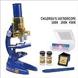 Tctasca Microscopi Ottici Biologica Microscopi Bambini Scienza Kit Esperimento per I Bambini