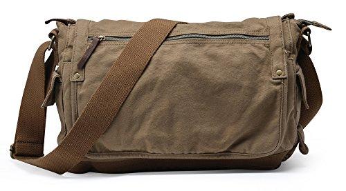 Gootium Unisex Canvas Messengertasche Vintage umhängetasche 30622 - Olivgrün
