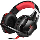 KOTION EACH GS600 Pro PC Gaming Headset Auriculares Estereo con Microfono para Xbox 360 / PS3 / PS4 / PC Computer Laptop / Teléfonos Móviles(Rojo)