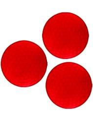 Sharplace 3 Pcs de Bola de Golf LED Rojo Oscuro Juegos Deportes