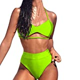 MRENVWS Sexy Frauen drucken Push-Up gepolsterte BH Beach Bikini Set Badeanzug Bademode