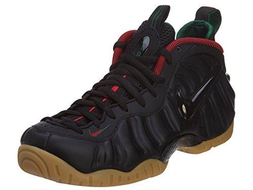 Nike Air Foamposite Pro, Chaussures de Sport-Basketball Homme, 41,5 EU Noir / Rouge / Vert / Jaune (Noir / Gym Grn Rd-Gk-Mtllc Gld-)