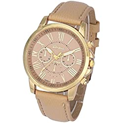 WINWINTOM Women's Fashion Geneva Roman Numerals Faux Leather Analog Quartz Wrist Watch