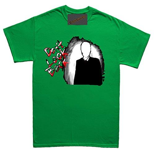 Renowned Don't Look Back Unisex - Kinder T Shirt Grün