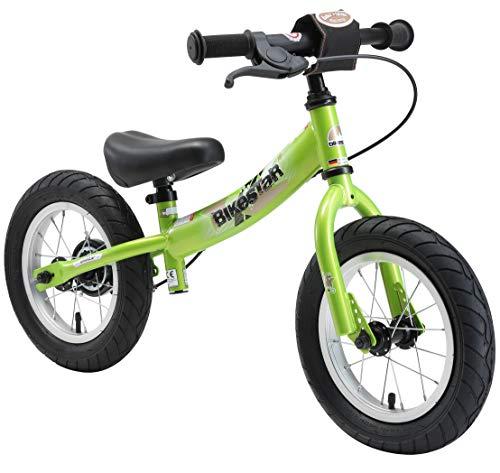 BIKESTAR Laufrad mit Seitenständer und Bremse für Kinder ab 3 Jahren, 30,5 cm, Sport Edition, Grün