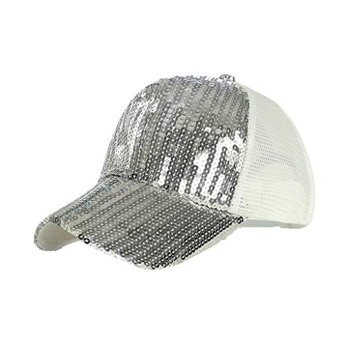 Syeytx Unisex Outdoor Pailletten Farbe Baseball Caps Einstellbare Mesh Belüftung Hut -