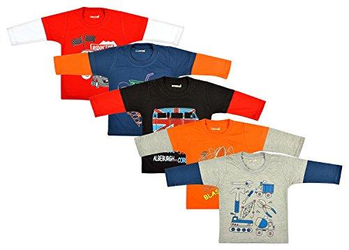 Kuchipoo Baby T-Shirts Set - Pack of 5 (KUC-TSHRT-105-1-2 Years)
