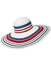 Honey Big Brim Cappello di Paglia da Donna Cappello Visiera Cappello da Sole  Foldable Strisce di 3011b9e272f5