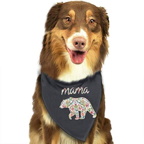 Rghkjlp Dogs Bandana Collars Floral Mama Bear Floral Pets Triangle Neckerchief Puppy Bibs Scarfs Cats Scarfs Towel (Cat Weihnachten Kostüm Für Verkauf)