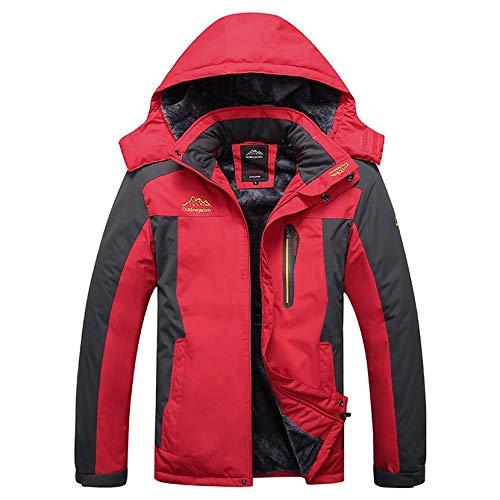 Yogatada giacca uomo donna inverno sci alpinismo con cappuccio outdoor windbreaker coat