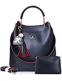 Speed X Fashion Women's Handbag With Sling Bag Combo (S00YTN-Black)
