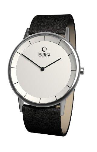 Obaku Harmony - V143G CIRB - Montre Homme - Quartz Analogique - Bracelet Cuir Noir