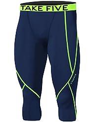 Hommes Sport np521Apparel Peau Collants de compression Base sous couche Capri Pantalon pour femme