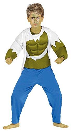 NES MONSTER - Größe 100-115 cm ( 5-6 Jahre ) (Muskelprotz Kostüm)