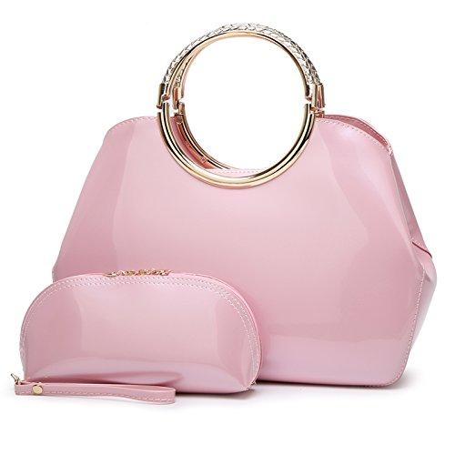Syknb Mode - Handtasche Tasche Handtasche Trend Bright Braut Styling - Paket. Pink