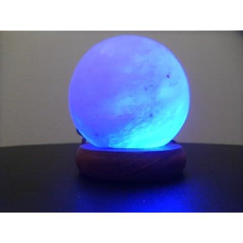 Lampada sale roccia cristallo con luce multicolore alimentazione USB forma palla