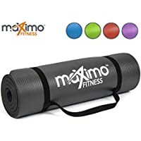 Maximo Exercise Mat - Premium Quality NBR Fitness Mat - Multi Purpose - 183cm Length x 60cm Width x 1.2cm Thick - Perfect for Yoga, Pilates, Sit-Ups, Stretching, Home, Gym - Lifetime Warranty.