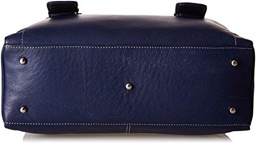 """Ledertasche """"Jane"""" von Catwalk Collection - GRÖßE: B: 33 H: 20 T: 12 cm Marine Blau"""
