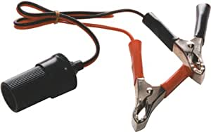 12v Accessory Socket With Battery Clamps Crocodile Clips