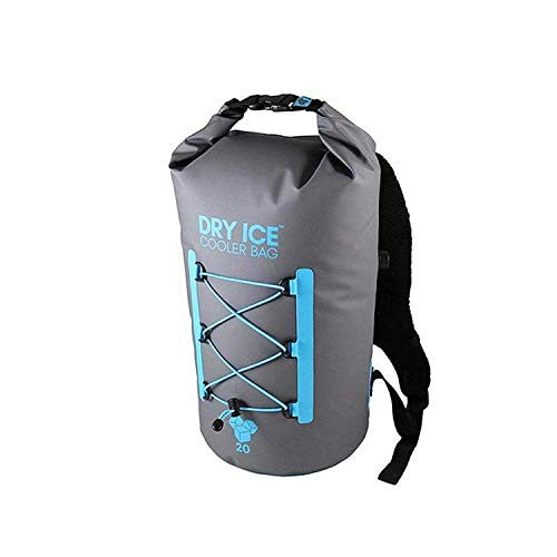Dry Ice Cooler Rucksack Kühltasche 20 Liter Grau wassedichte Tasche (Kordelzug Cooler Bag)