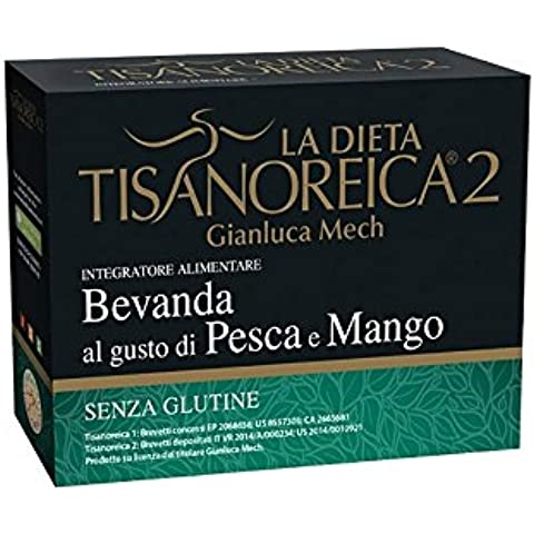 Tisanoreica bevanda al gusto di Pesca e Mango 4 preparati da 29g
