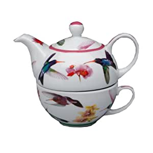 Hummingbirds Tea For One 16oz Teapot & Cup by The China Street