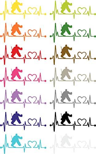 Herzlinien Aufkleber Eishockey Torwart