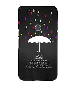 EPICCASE Dance in Rain Mobile Back Case Cover For Huawei Nexus 6P (Designer Case)