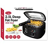 Quest 35230 Benross Deep Fat Fryer with Removable Window Lid, 2.5 Litre, 1800 W, Black