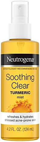 Neutrogena Soothing Clear Calming Facial Mist Spray with Turmeric, Hydrating and Refreshing Facial Mist for Ac