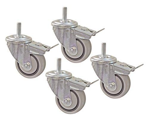 4 Stück Caster Set (Kreg prs30907,6cm Dual Locking caster-set, 4Stück)