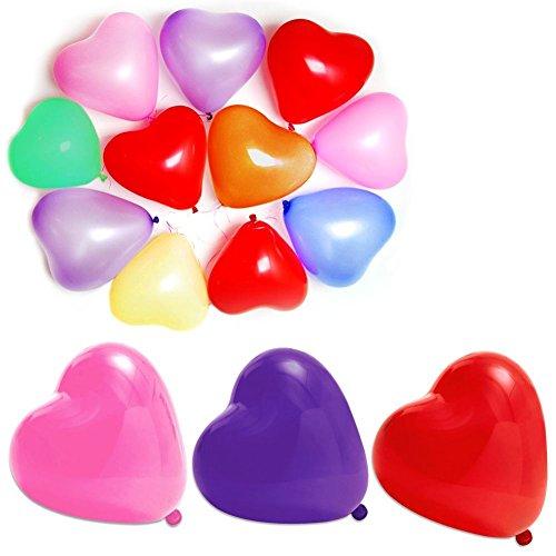 10 unids Globos en forma de corazon para decoración fiestas bodas multicolor