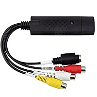 Top-Longer External USB 2.0 Video Grabber with Audio for Windows - VHS to DVD Converter Video adapter