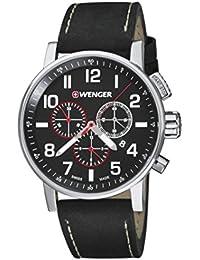 Wenger Unisex-Armbanduhr 01.0343.102 WENGER  ATTITUDE CHRONO Analog Quarz Leder 01.0343.102 WENGER  ATTITUDE CHRONO