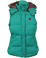 Ladies Gilet Brave Soul Womens Padded Bodywarmer Hooded Jacket Checked Winter PKD