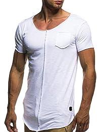 Camisas de hombre manga corta Amlaiworld Moda camisetas hombre manga corta originales baratas tallas