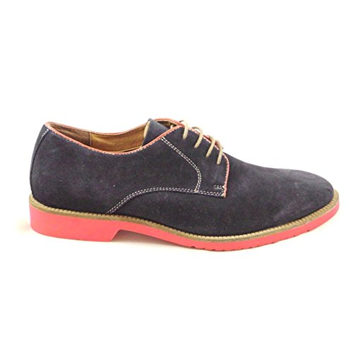 Lotus Larsson Navy Suede Lace-Up Casual Shoe 8