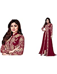 Swara Trendz Faux Georgette Codding & Stone Work Embroidery Salwar Suit For Festival Special (Semi Stitch_ Free...