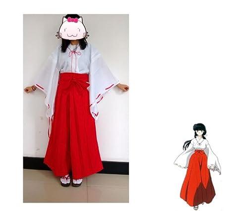 Fantasycart Japanese Anime Inuyasha Psychic Kikyo Kimono Cosplay Costume Small by Fantasycart