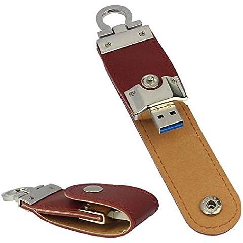 aussel administrarlos de piel de USB 16GB U Disco de memoria flash stick Mini Muelle de tracción para ordenador