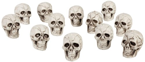 Boland 74390 - Set 12 Teschi Decorative Skull, 4 x 3 cm