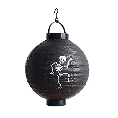 (TIREOW LED Papier Halloween Hängende Laterne Fledermaus Spinne Kürbis Licht Party Dekor Lampe (C))