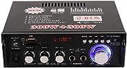 12V/ 220V Mini BT LCD Display HIFI Audio Stereo Power Amplifier,Portable Car Home FM Radio Audio Amplifier