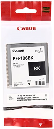 Canon 6621B001 Tintenpatrone PFI-106BK, schwarz