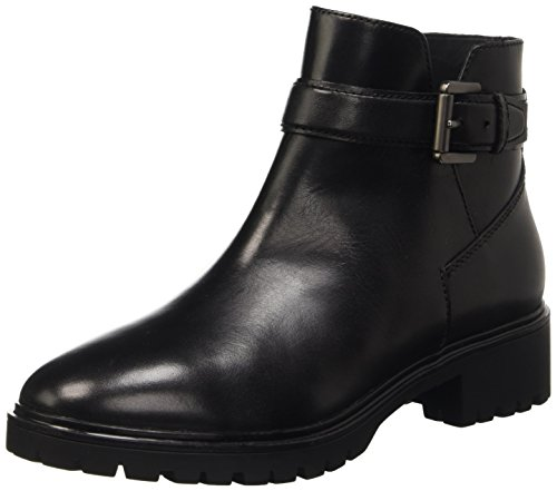 Geox D Peaceful B, Stivaletti Donna, Schwarz (BLACKC9999), 38 EU