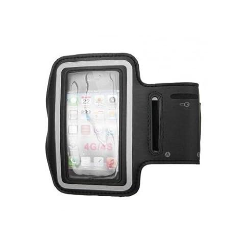 Sportarmband mit Fach für Schlüssel, Kopfhörer für iPhone 4 / 4G / 4S, Samsung Galaxy Ace, Nokia 800, Nokia 110 200 Asha 201 205 300 302 303 305 306 311 603 620 800 Lumia C3 C6 E5 E6 E71 Lumia 620 N8 N9 N95 N96 N97, Sony Xperia Miro, Tipo, E, U, Neo, Go, (C6 Nokia)