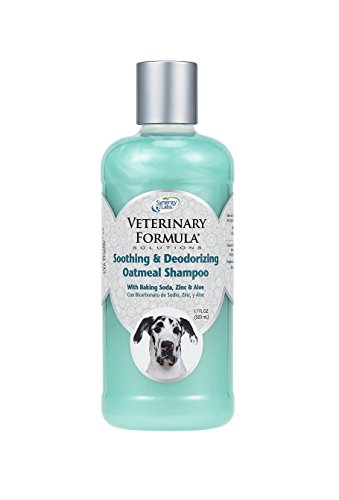 Synergy Labs Veterinary Formula Soothing and Deodorizing Oatmeal Shampoo with Baking Soda, Zinc and Aloe Vera; 17 fl. oz.
