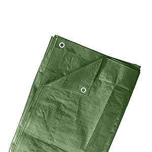 JAROLIFT Telone occhiellato impermeabile, 6 x 8 m, Telo multiuso in polietilene 260 g/m2 / verde