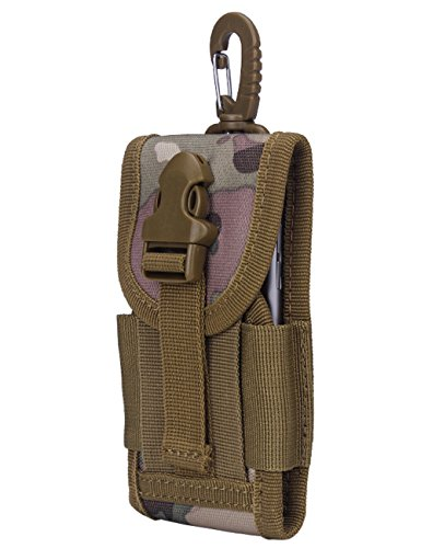 CUKKE Multipurpose Taktische Tasche Gürtel Taille Pack Tasche Military Taille Fanny Pack Telefon Tasche Gadget Geld Tasche Khaki Tarnung 1