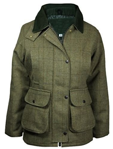New Womens Countrywear Waterproof Tweed Jacket Coat